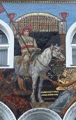 VIENNA, AUSTRIA - OCTOBER 10: Mosaics Facade, Karntnerstrasse 16 in Vienna, Austria on October 10, 2014.