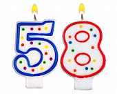 Birthday Candles Number Fifty Eight