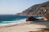 california beach along pacific coast highway