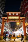 Entrance of Temple Street in Hong Kong