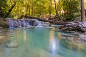 Erawan water fall locate in Thailand national park