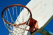 Basketball hoop in a park