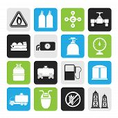 Silhouette Natural gas objects and icons