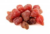Pile Of Tasty Red Dried Dehydrated Strawberries