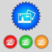Copy File Jpg Sign Icon. Download Image File Symbol. Set Colourful Buttons. Modern Ui Website Naviga