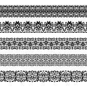 Vector illustration set of seamless textures. All elements are grouped separately.