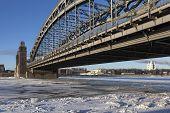 Bolsheokhtinsky bridge. St. Petersburg. Russia