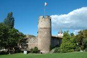 Castle Tower In La Tour-de-peliz In Switzerland