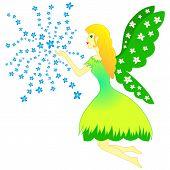 Fairy Woman And Flowers - Spring, Vector, Fairytale