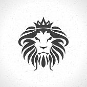picture of lion  - Lion face logo emblem template for business or t - JPG