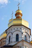stock photo of kiev  - Kiev Pechersk Lavra Church in Kiev Ukraine - JPG