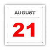 stock photo of august calendar  - August 21 - JPG