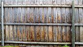 Rain On A Pailing Fence