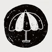 pic of drawing  - Umbrella Doodle Drawing - JPG