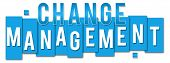 pic of change management  - Change management concept image with text written over classroom board - JPG