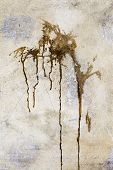 image of concrete pouring  - Creative background old concrete wall pour paint stains spots cracks and scratches - JPG