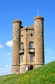 stock photo of broadway  - Broadway tower on Broadway Hill near Broadway Worcestershire England UK Western Europe - JPG