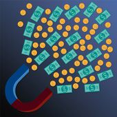 picture of pulling  - financial background money magnet pulling money into your life - JPG