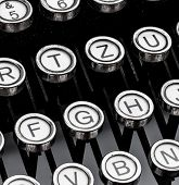 picture of groping  - an old typewriter keyboard - JPG