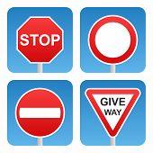 Постер, плакат: Traffic signs