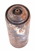 picture of spray can  - Old spray cans on a white background - JPG