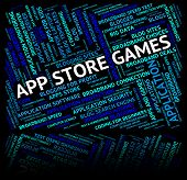 Постер, плакат: App Store Games Means Retail Sales And Applications