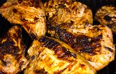 Fresh Grilled Chicken Breasts On The Barbecue