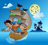 Três piratas e Ilha Silhouette