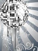 silver mirror ball
