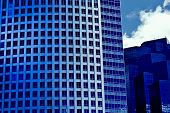 Blue buildings of the future