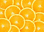 Abstract Background With Citrus-fruit Of Orange Slices