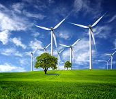 foto of wind-turbine  - Ecological direction - JPG