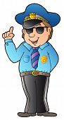 Cartoon Advising Policeman