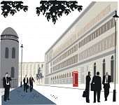 London Whitehall illustration