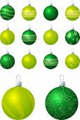 Green and Lime Baubles