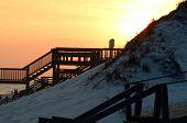 Sunset Boardwalks And Birdhouse