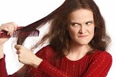 Pentear o cabelo
