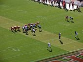 Rams Line Up To Punt Football