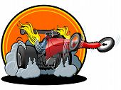 Vector cartoon dragster
