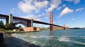 Panorama of Golden Gate Bridge