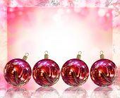 Christmas Card Illustration Showing Christmas Balls