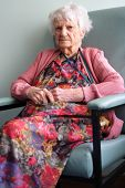 picture of elderly woman  - beautiful 94 year old senior citizen portrait - JPG