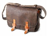 Brown Leathe Bag Isolated