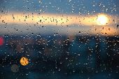 Sunset On Rainy Day poster