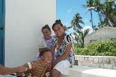 Three happy Island Children.