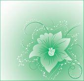 Fundo flor, elementos de Design