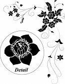 Elemento de Design, ilustração de flor