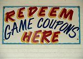 Game Coupon Sign