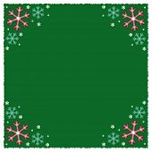 Green Snowflake Winter Background