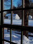Village View In Winter